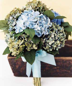 Real Simple: Hydrangea wedding bouquet
