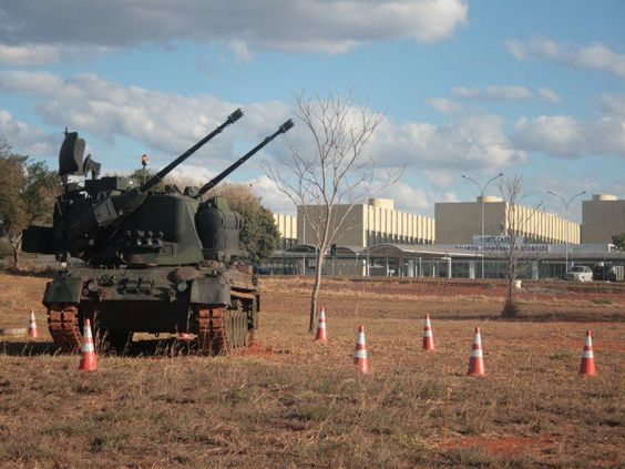 A defesa antiaérea no Estádio Nacional