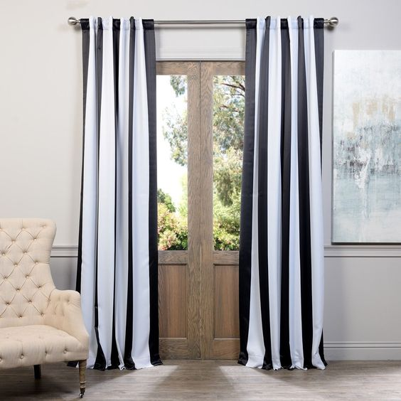 Accent your windows with beautiful curtain panels with classic ...