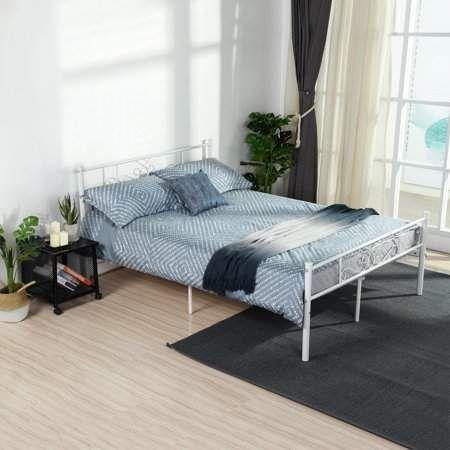 Home Headboard Footboard Bed Frame Full Metal Bed Frame