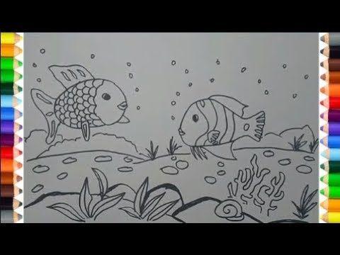 Cara Menggambar Pemandangan Bawah Laut Dengan Mudah Youtube Sketsa Cara Menggambar Pemandangan