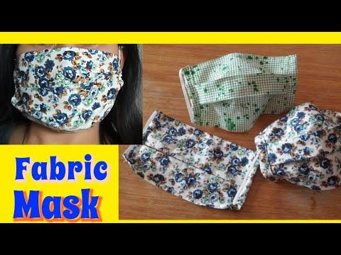 How To Sew A Simple Fabric Face Mask Youtube In 2020 Diy