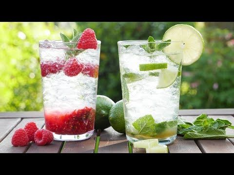 Rezept Virgin Mojito I Classic Und Himbeere I Mojito Mocktail I Alkoholfrei Zutaten Limetten Rohrzucker Mineralwasser Eiskalt Virgin Mojito Mojito Himbeeren