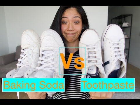 Cleaning WHITE SHOES  Toothpaste Vs