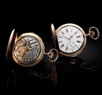 Circa 1890. Minute repeater hunter pocket watch - Jaeger-LeCoultre