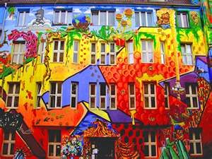street in Dusseldorf, Germany.