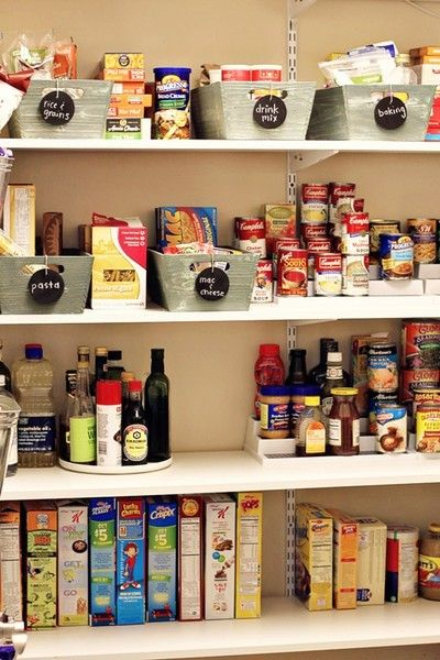pantry or cupboard organizing
