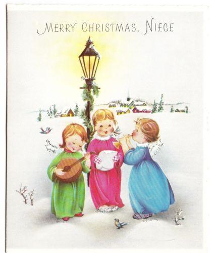 Vintage-Norcross-Angels-Singing-under-Lamp-Post-Christmas-Greeting-Card
