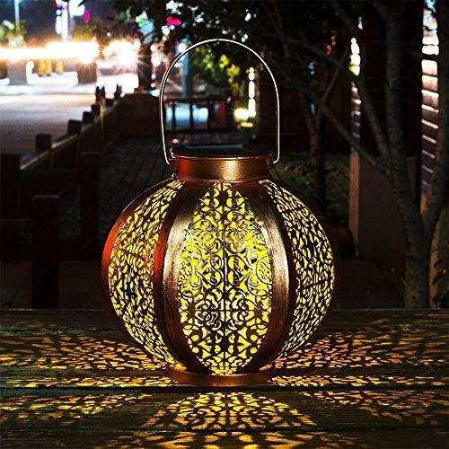 Lanterne Solaire Jardin Decoration Exterieur Etanche Luminaire Solaire Patio Decoratif Metal Lampe De P En 2020 Lampe Solaire Jardin Luminaire Solaire Lanterne Solaire