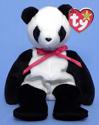 Fortune panda bear beanie babies stuffed toy jpg 350x439 Giant panda beanie f7e9eefeb111