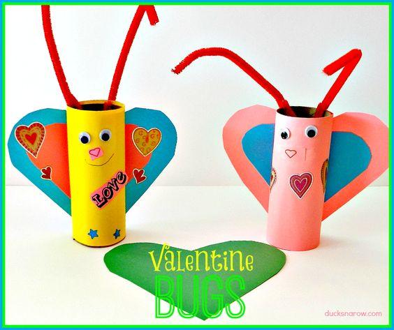 Ducks 'n a Row: Valentine's Day Love Bugs Preschool Craft