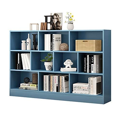 Bookcase Blue Interlaced Cube Bookcase 10 Display Stand Storage Manager Stand Up Bookcase Color Blue Si Cube Storage Unit Cube Storage Wood Storage Shelves