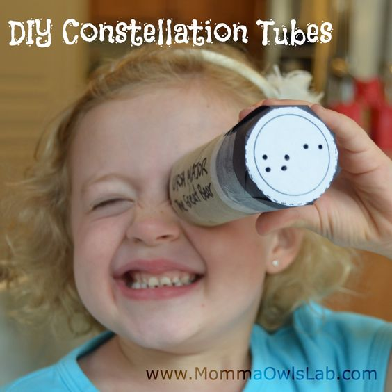 For week 5.  DIY Constellation Tubes (Momma Owls Lab)