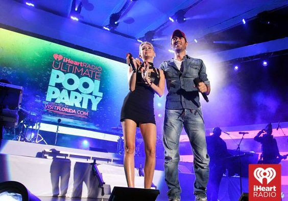 #MileyCyrus #EnriqueIglesias #Hosting #PoolParty ~ Photo by: Getty for #iHeartRadio  — at Fontainebleau Miami Beach.