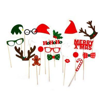 Photo Booth di Natale | Kit per fare foto divertenti alla festa di Natale