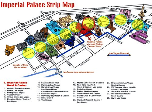 Imperial Palace Casino Map