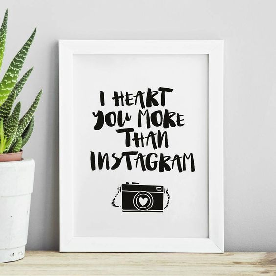 I Heart You More Than Instagram http://www.notonthehighstreet.com/themotivatedtype/product/heart-you-more-than-instagram-typography-print @notonthehighst #notonthehighstreet