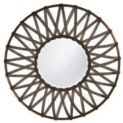 lucy round framed wall mirror, essentialsinside.com