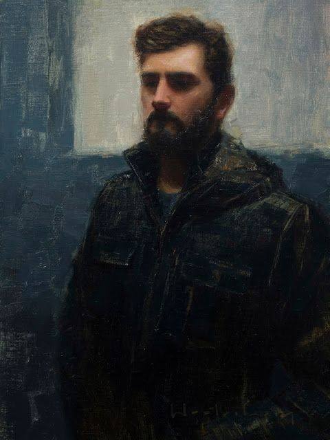 Self-Portrait by Aaron Westerberg (contemporary), American (westerberg-fineart)
