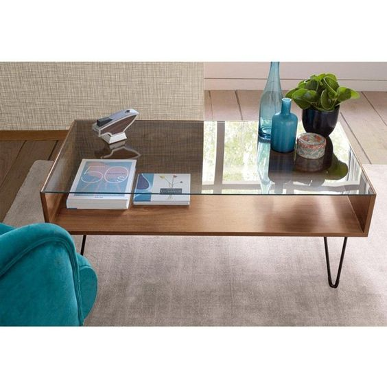 Watford mobiles and caf on pinterest - Table basse double plateau bois ...