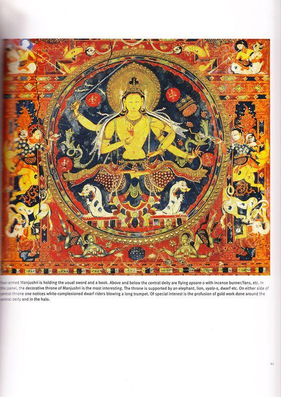 ...Wandmalereien aus dem Tempel von Alchi, hinduistisch, hat Christoph aus einem Buch selbst eingescannt, der war da... Beachte die Tiere... keine Buchgrafik zwar, nur so zur Ansicht...