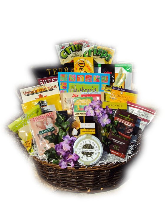 Healthy Birthday Gift Basket For Her : Healthy gift baskets for her and on
