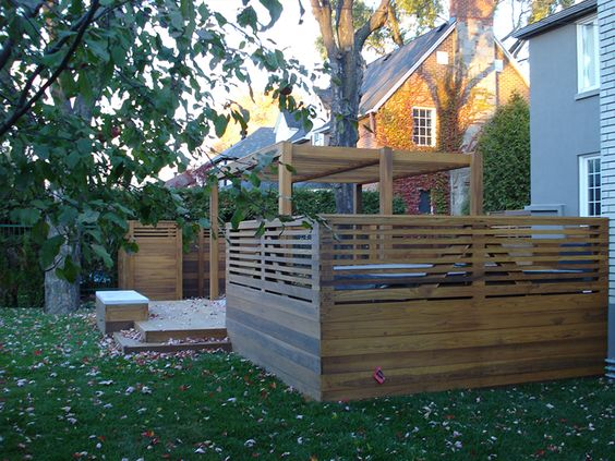 Projet récent 2013 terrasse en bois torréfié  Portfolio Simon