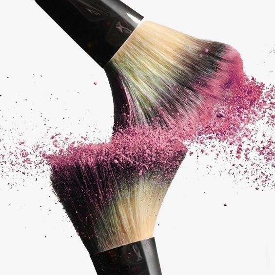 Makeup Brush Pink Splash Collision Brush Effect Makeup Clipart