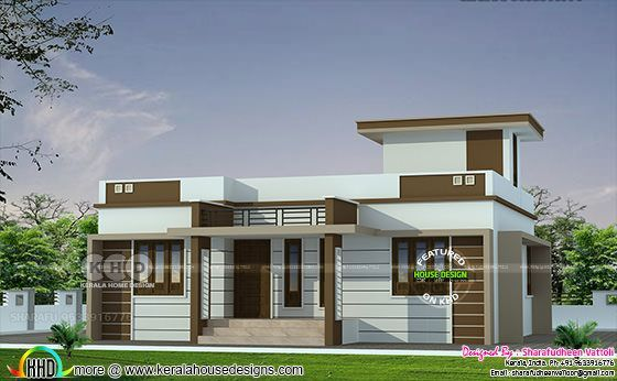 3 Bhk In 1086 Sq Ft Budget Home Design In 2020 Kerala House Design Small House Elevation Design Bungalow House Design