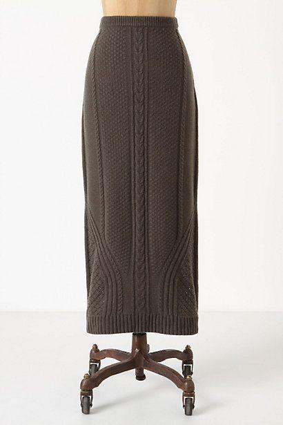 Needled Paths Sweater Skirt - StyleSays