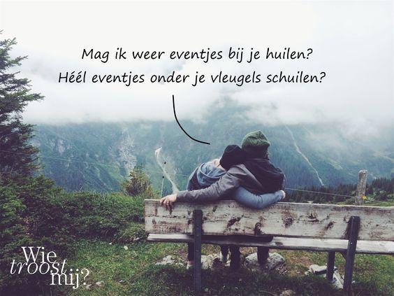 Soms heb je gewoon een schouder nodig om bij uit te huilen. Maar wat als deze vriend of vriendin er niet meer is? #wietroostmij #vriendschap
