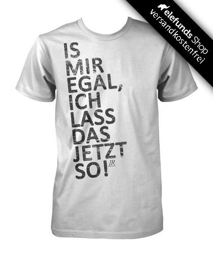 #JR Sewing - #Is' mir egal, ich lass das jetzt so! - Männer T-Shirt - weiß - 28,80€ - Versand kostenlos