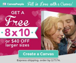 FREE PHOTO CANVAS ~ Valentines Gift or Mothers Day Gift Idea (just pay S&H)