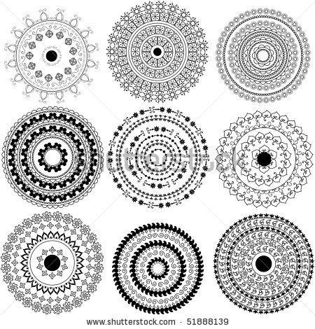 Mandala design - Henna art inspired, easily editable by krishnasomya, via ShutterStock
