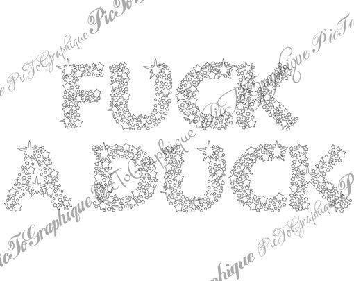 "Curse Word Coloring Page The swearing words ""F*ck a duck"