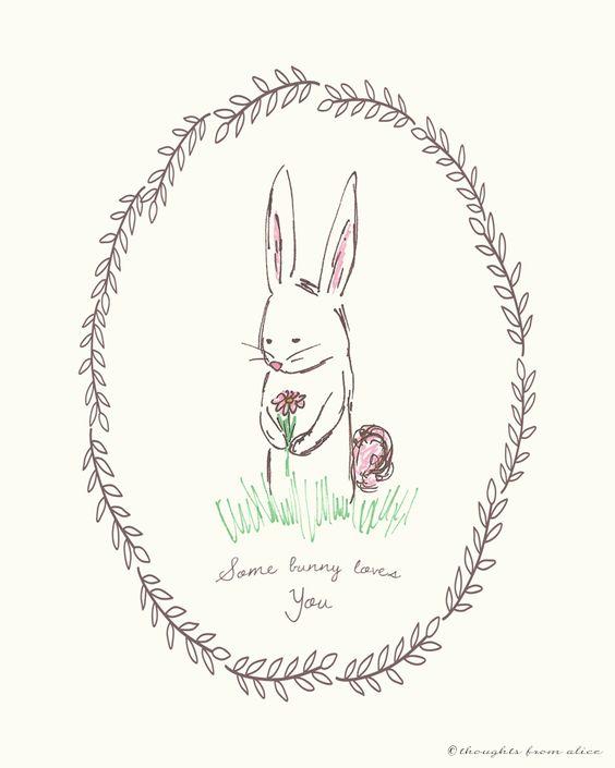 Some bunny loves you printable