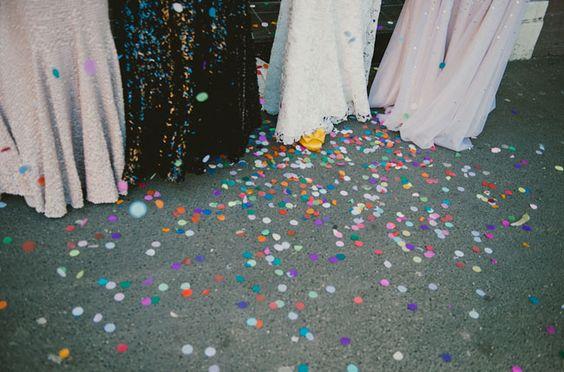 pretty dresses + confetti // Glam Garden Party Wedding: Emily + Ed
