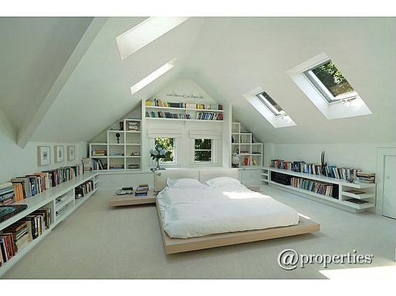 Such a beautiful attic bedroom. But let's put some color with our ColorLine television! #TCLDecor #TCLColorLine