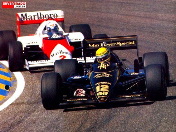 Senna & Prost do battle 1985.