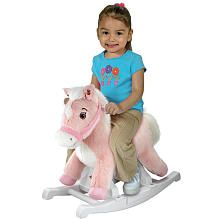 Rockin' Rider Animated Plush Rocking Horse - Talking Pink Pony    I just have to have this for Paris!!!!
