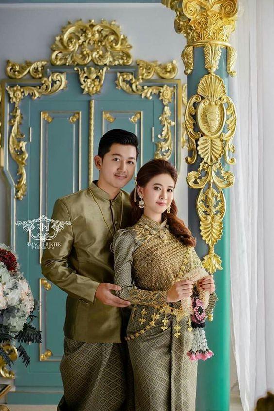 Thai Sivalai dress  By Cambodian model