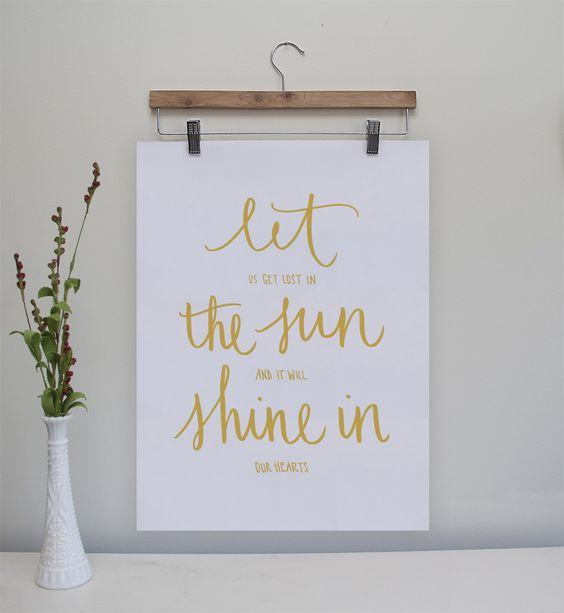 Let the Sun Shine In Original Poster 18x24 from Yours is the Earth