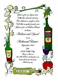 rehearsal dinner party invitations rehearsal dinner invitations pinterest italian theme