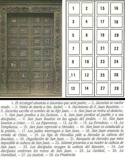 Las Puertas De Bronce Del Baptisterio De La Catedral De Florencia. Andrea Pisano…