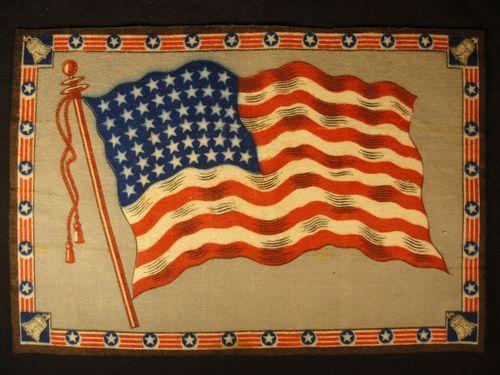 USA America Flag Early 1900s Tobacco Cigar Cigarettes Silks Felt Rug Dollhouse | eBay