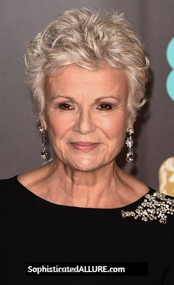 Julie Walters Short Textured Hairstyle 71st Annual Ee British Academy Film Award Short Hairstyles Over 50 Short Curly Hairstyles For Women Messy Short Hair