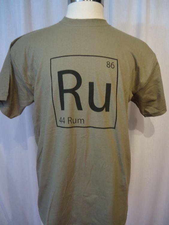 Periodic Rum Tshirt Medium by FashionTramp on Etsy, $15.00