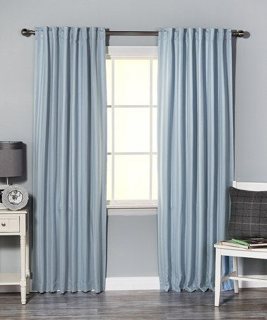 Love this Sky Blue Stripe Thermal Blackout Window Panel – Set of Two on #zulily! #zulilyfinds