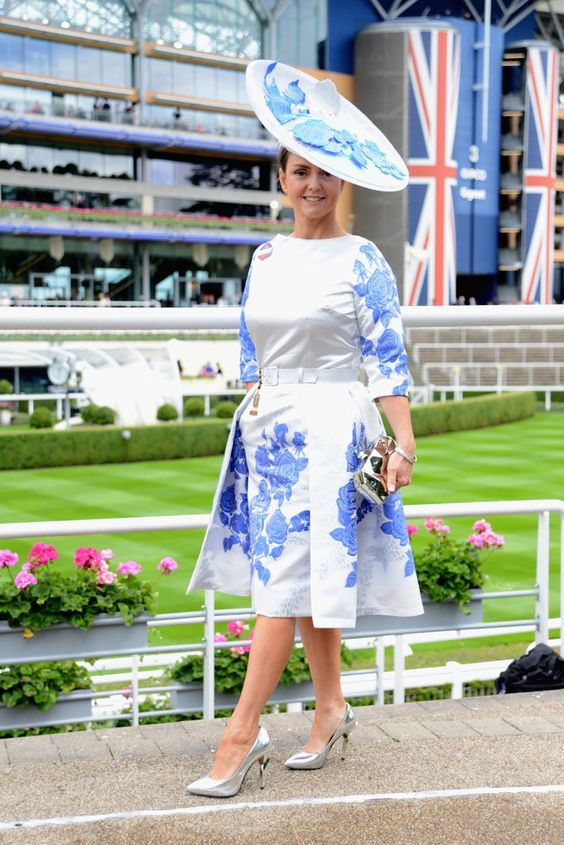 Pin for Later: Royal Ascot Attendees Have Been Showing Off Some Serious Statement Style Gail Hayden-Stapf