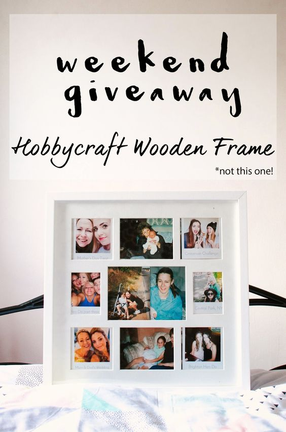 Crafty Afternoon   Weekend GIVEAWAY! WIN a gorgeous wooden white frame from Hobbycraft. Head on over to today's to find out how to win :)  www.beingashleigh.com #giveaway #bloggiveaway #win #freebie #prize